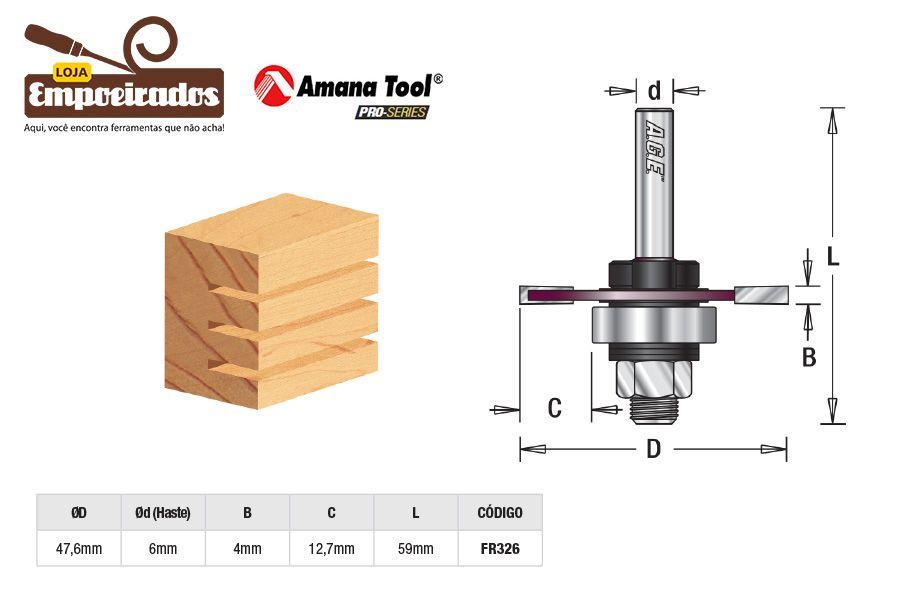 Fresa AGE™ Pro-Series Amana Tool - Canal Debrum - 4mm [FR326]