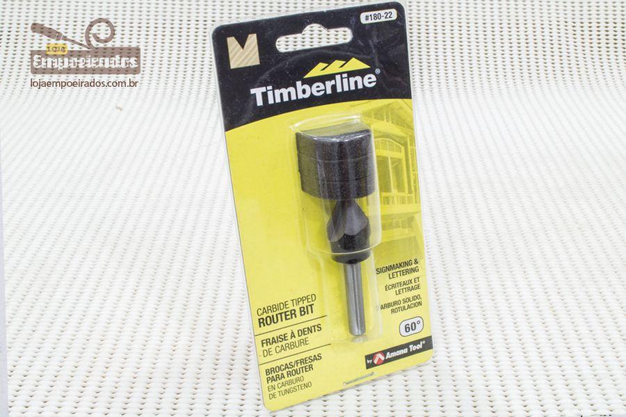 """Fresa em """"V"""" Timberline - 60º #180-22"""
