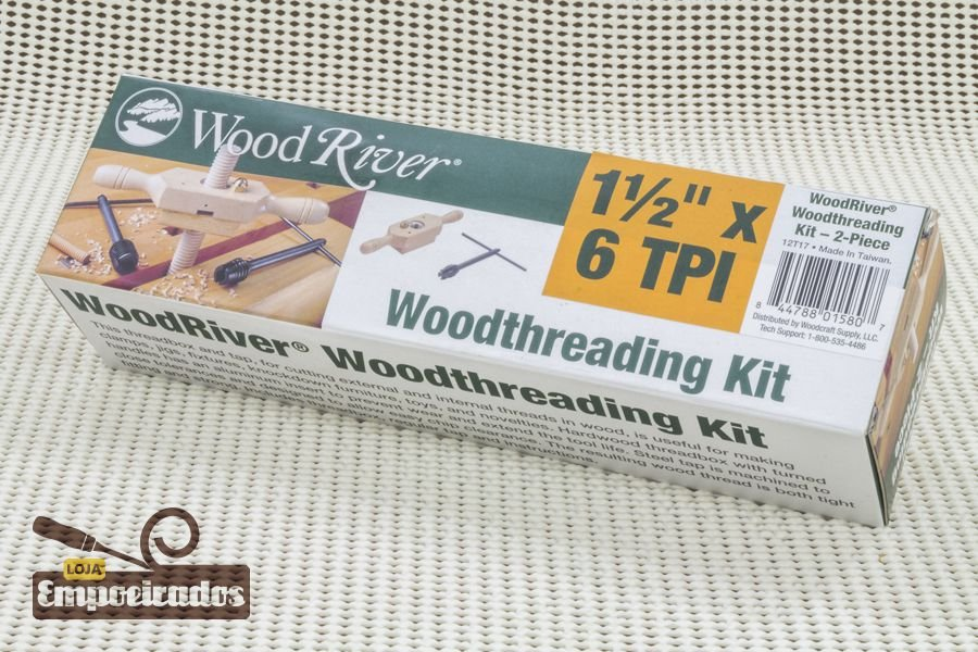 "Gabarito de Rosca em Madeira Cossinete 1.1/2"" x 6 DPP - WoodRiver [Woodthreading Kit]"