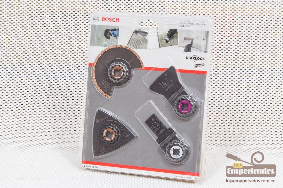 Jogo de acessórios Bosch para multicortadora - Remoção de Azulejo/Cerâmica com 4pçs