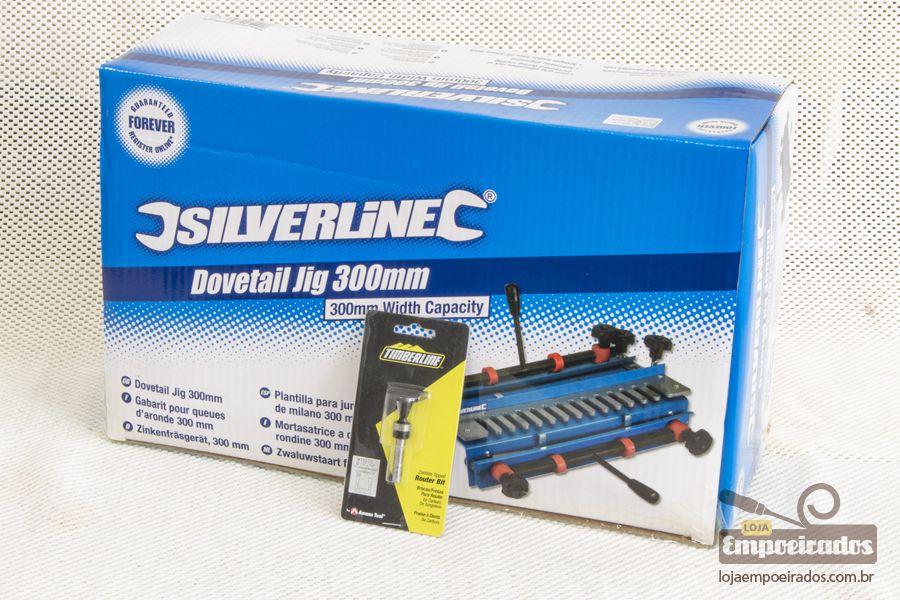 Gabarito para Rabo de Andorinha Dovetail Jig 300mm com fresa 14º - Silverline