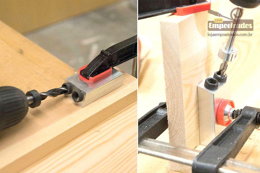 Gabarito Basic Pocket Hole Jig para Furação em Ângulos - Silverline