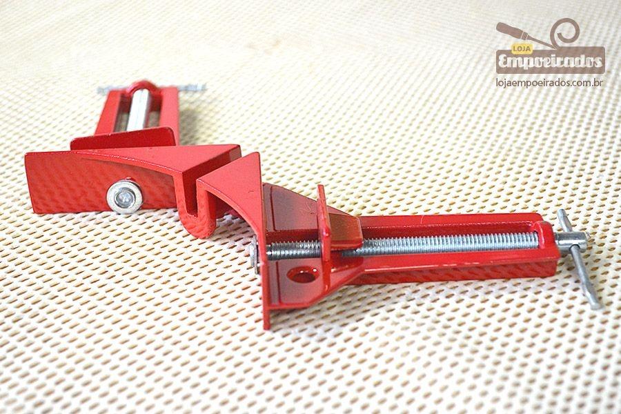 Gabarito (Jig) e Grampo Sargento 90 graus para fixação e quadros - Alumínio
