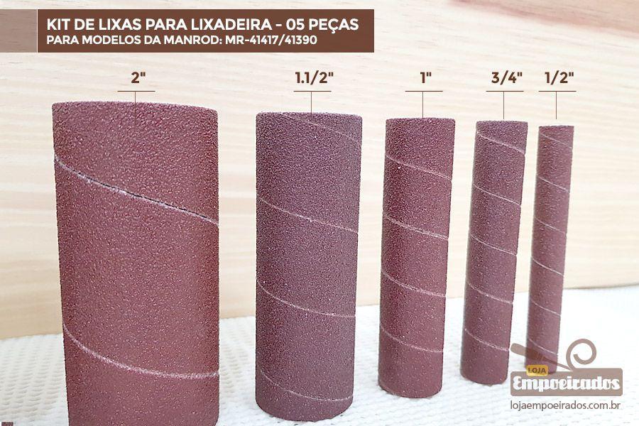Kit de Lixas para Lixadeira MR-41417/41390 - 05 unidades