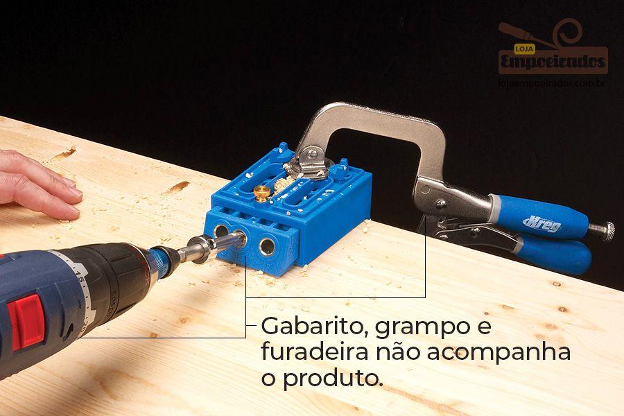 Base para Gabarito Pocket Hole K3, K4 e K5 - Kreg  [KPDGB]