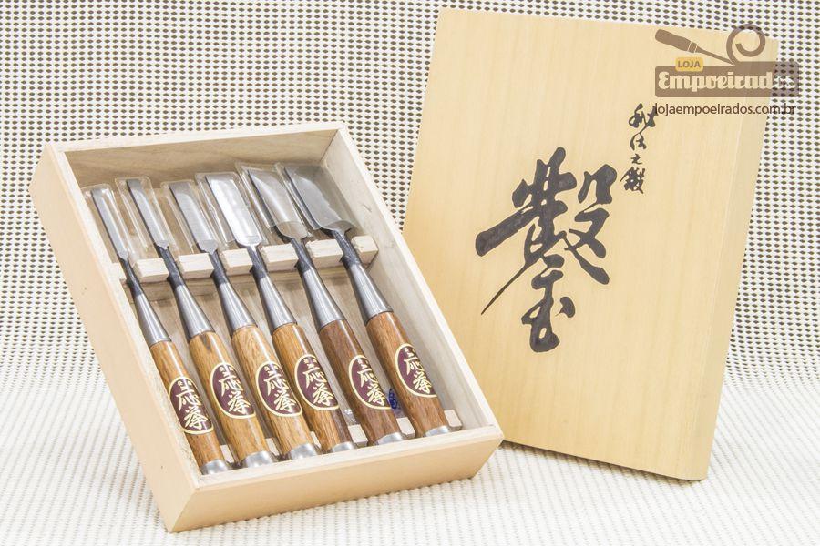 Kit de Formões Premium com 6 peças - Fujikawa