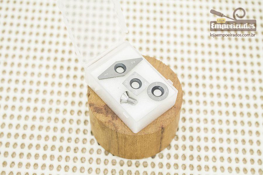 Jogo de Insertos para Mini-Formão com 3 peças - Manrod MR-20201-INS