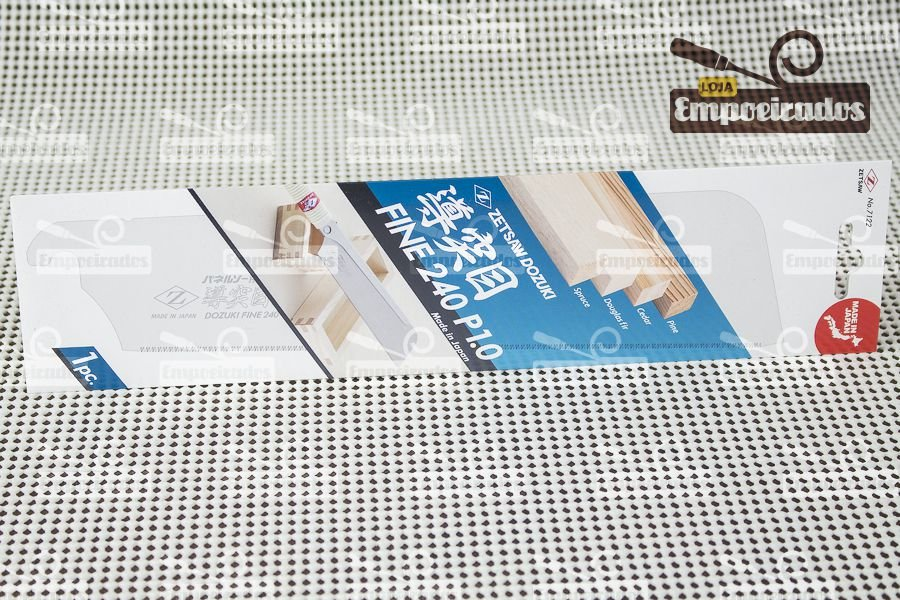 Lâmina para Serrote Japonês Dozuki Cross Cut Super Fino 240mm - ZetSaw