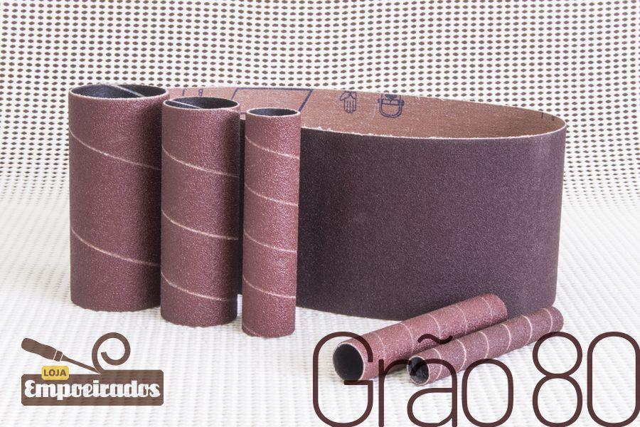 Kit de lixas para lixadeira Manrod Eixo + Cinta MR-41417 - #80 - 06 unid.