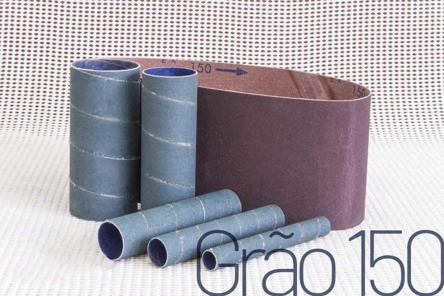 Kit de lixas para lixadeira Manrod Eixo + Cinta MR-41417 - #150 - 06 unid.