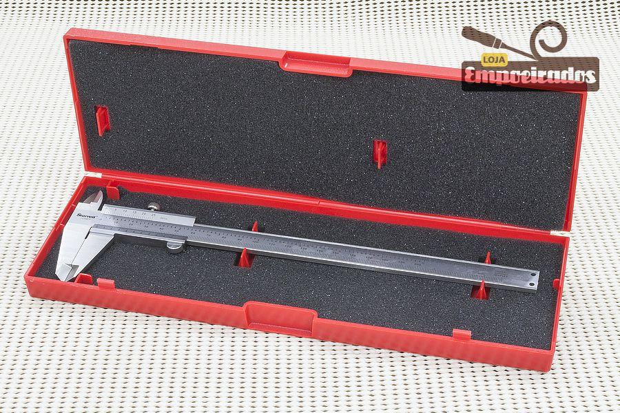 "Paquímetro Starrett 125MEA 8""/200mm - Escala Polegada Decimal - 0,02mm e 0,001"""