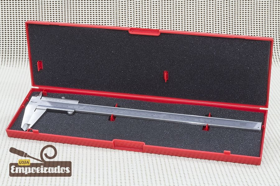 "Paquímetro Starrett 125MEA 12""/300mm - Escala Polegada Decimal - 0,02mm e 0,001"""