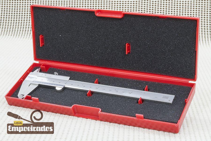 """Paquímetro Starrett 125MEB 6""""/150mm - Escala Polegada Fracionária - 0,05mm e 1/128"""""""