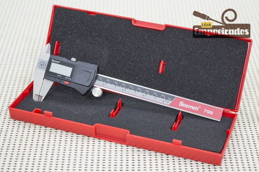 "Paquímetro Universal Digital Starrett EC799A 6""/150mm - sem saída de dados"