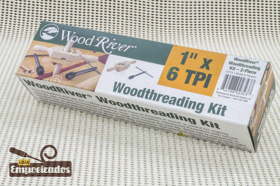 "Gabarito de Rosca em Madeira Cossinete 1"" x 6 DPP - Woodriver [Woodthreading Kit]"