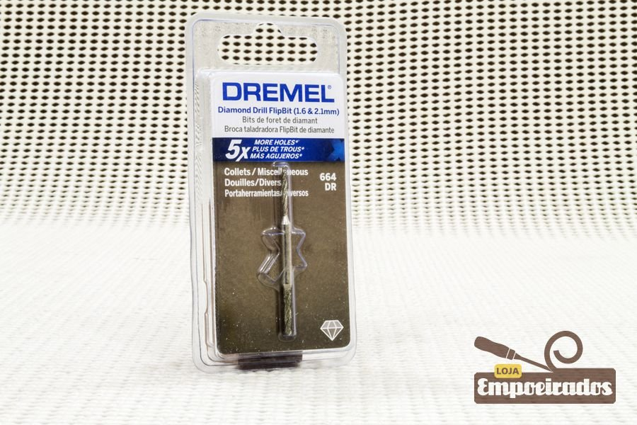 Broca de Vidro 2 em 1 664DR - 1,6 e 2,1mm - Dremel