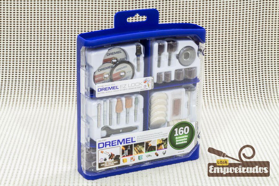 Kit de Acessórios para Microretífica 710RW2 - 160 pçs - Dremel