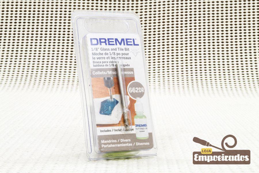 "Serra-Copo Diamantada p/ Vidro 662DR - Ø1/8"" - Dremel"