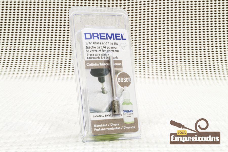 "Serra-Copo Diamantada p/ Vidro 663DR - Ø1/4"" - Dremel"
