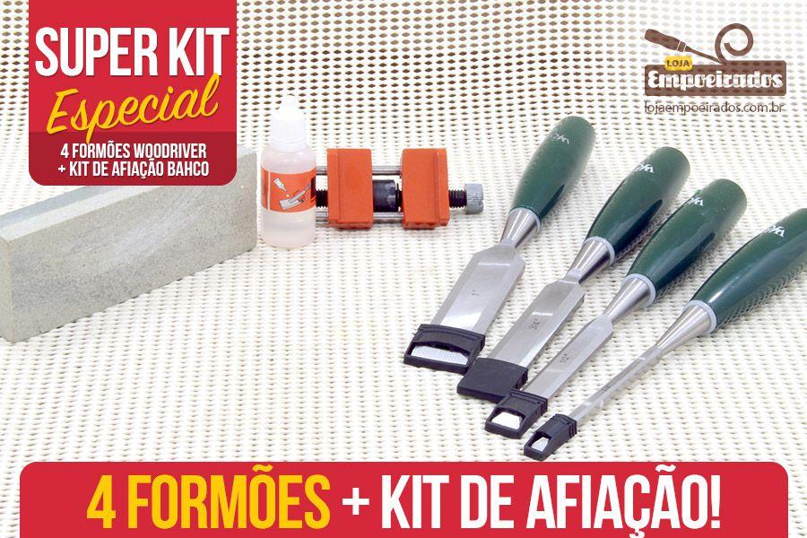 Kit Formões Woodriver + Afiação Bahco