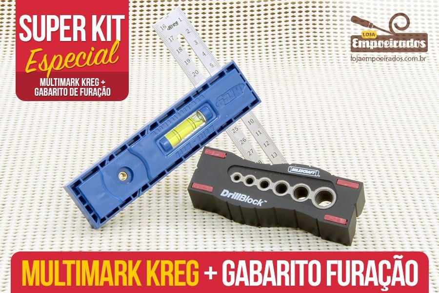 Queridinhos dos Norte-Americanos - Multimark Kreg + DrillBlock Milescraft