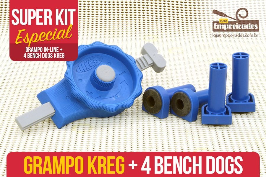 Kit Bancada Kreg - Grampo In-line+Bench Dogs
