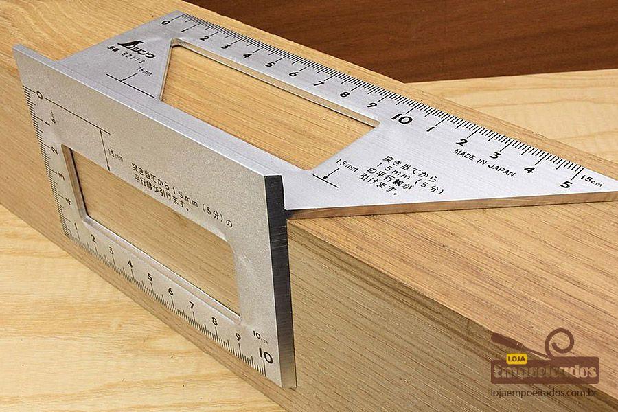 Esquadro Shinwa Japonês 45 e 90º 3D [62113]