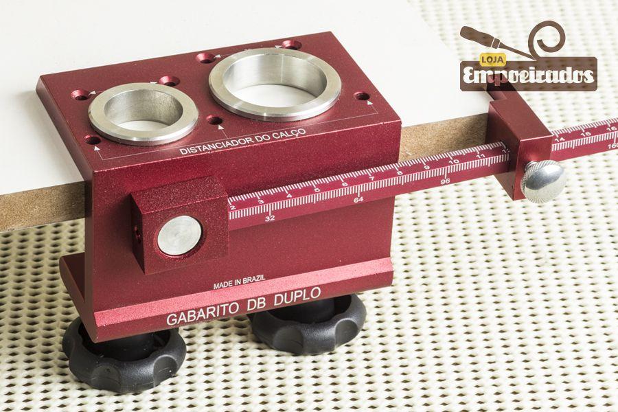 Gabarito para Dobradiça Duplo DB 26 e 35mm - LCM