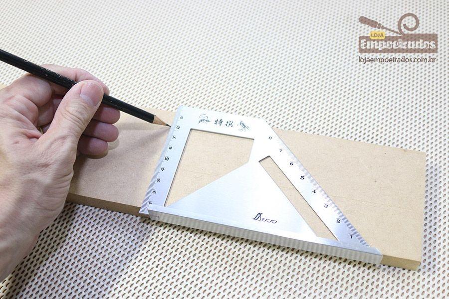Esquadro Japonês Shinwa 45 e 90 graus - Base Pequena [62081]
