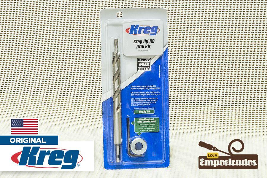Broca Escalonada Kreg Jig HD com limitador - Engate Rápido