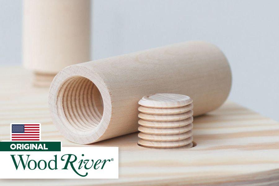 "Gabarito de Rosca em Madeira Cossinete 1-1/4"" x 6 DPP - Woodriver [Woodthreading Kit]"