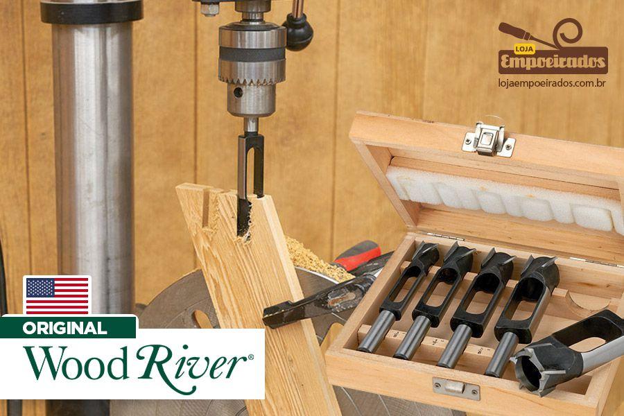 Kit de Brocas para Espiga Cilíndrica 5 peças - Woodriver