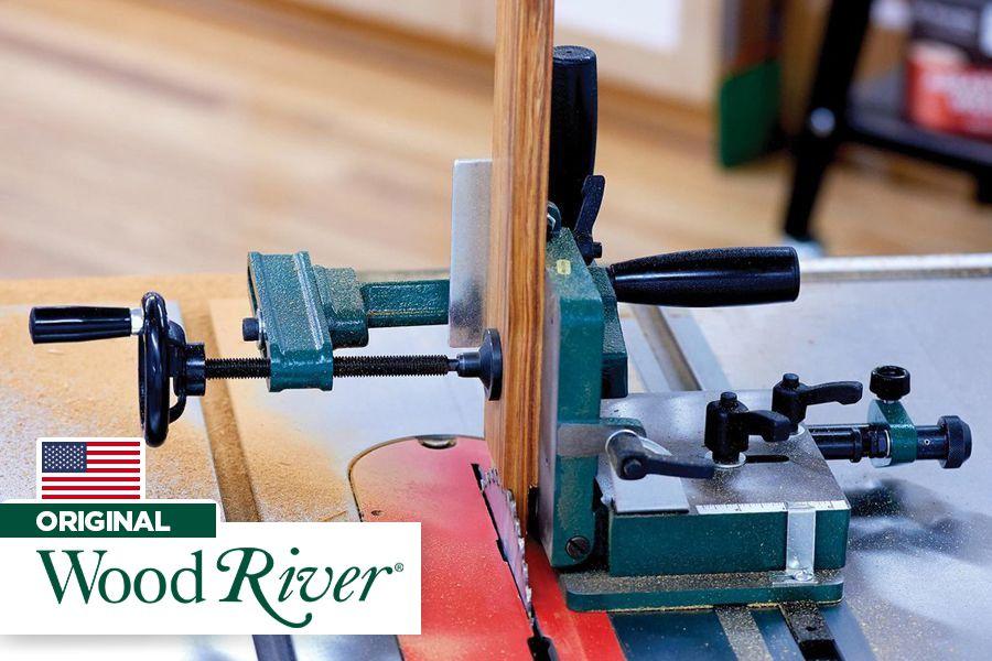 Gabarito para cortar espigas em serra circular - Woodriver