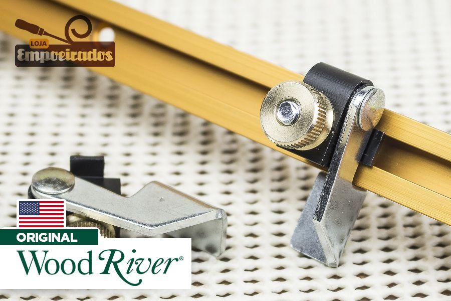 Stop articulado para trilho T-Track 2 peças - Woodriver