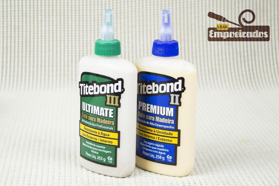 Dupla de Colas para Madeira Titebond Premium e Ultimate Wood Glue - Tamanho Pequeno