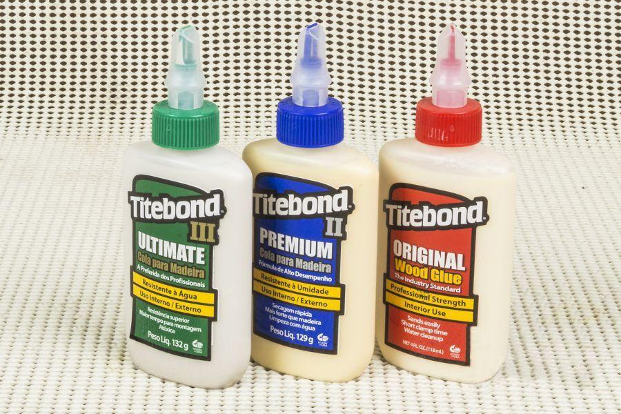 Kit Trio de Colas para Madeira Titebond Original, Premium e Ultimate Wood Glue - Tamanho Mini