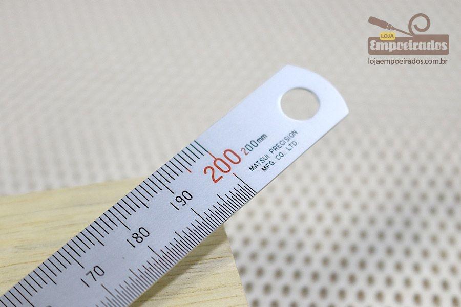 Escala ou Régua de Aço Inoxidável Matsui - 200mm / 20cm
