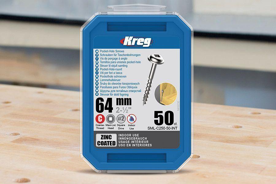 Kit com 250 Parafusos KREG para Bancada Marceneiro Standard - Projeto Exclusivo Empoeirados