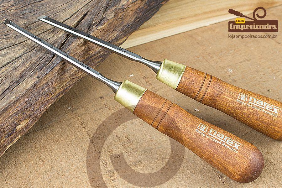 Par de Formões Skew 6mm - 851656 - Narex