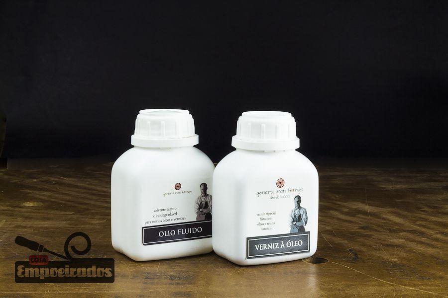 Kit Utensílios de Cozinha - Verniz à Óleo + Olio Fluido General Iron Fittings  - Pequeno