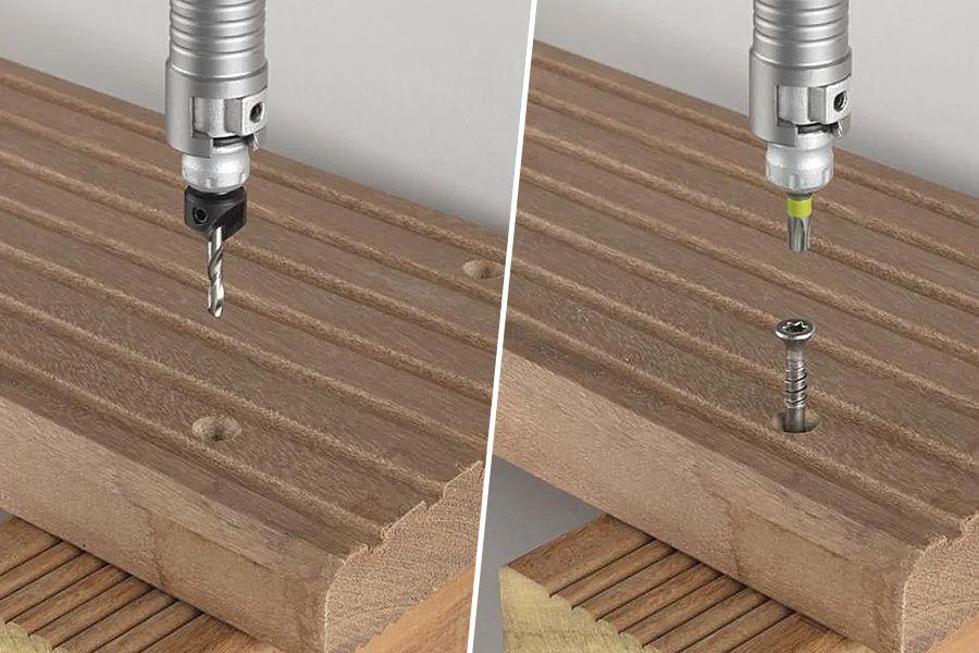 Broca Escareadora com Bit e Suporte de Encaixe Rápido Flipbit com 4 peças | 308200 - Wolfcraft