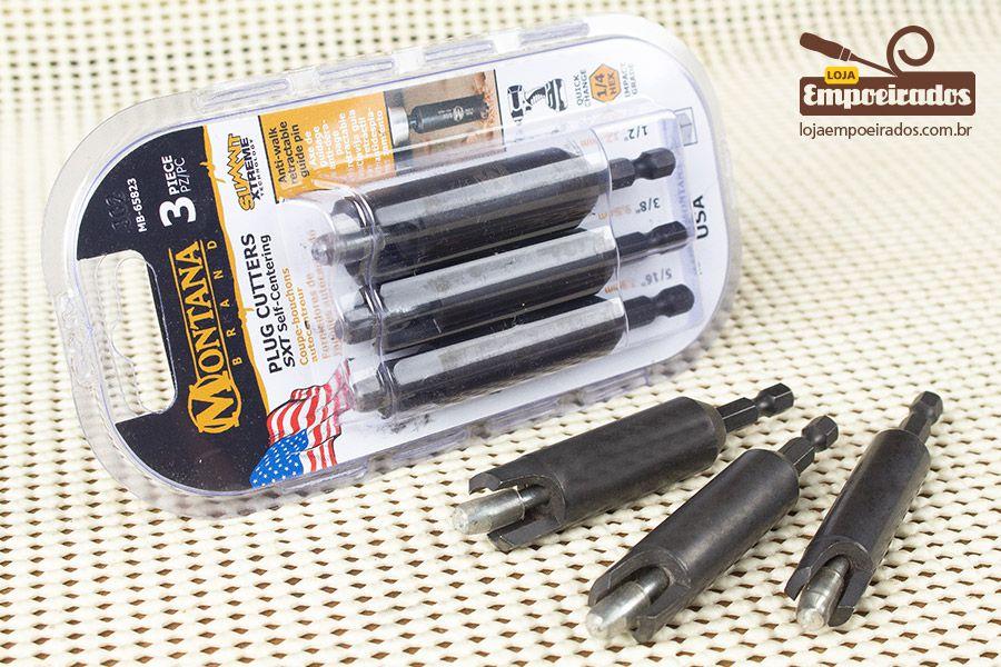 Kit de Brocas Cortadoras para Tapa Furos e Plugs com 3 peças - MB-65823 - Montana