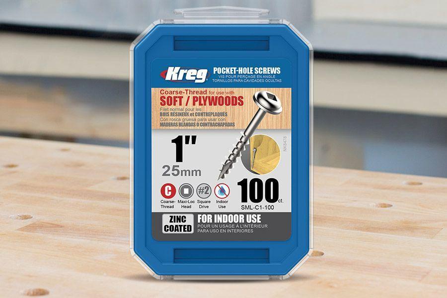 "Parafuso Kreg Jig 1"" - 25mm [SML-C1-100]"