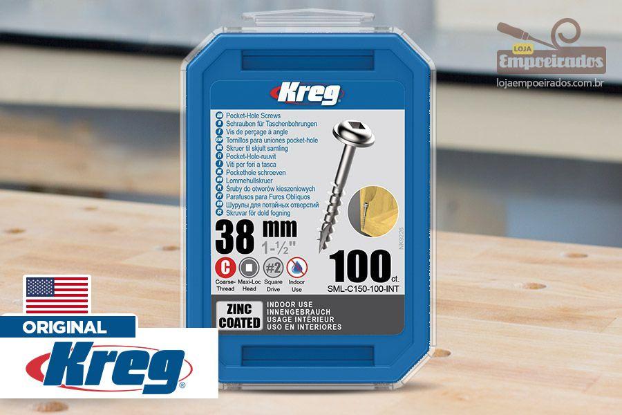 "Parafuso Kreg Jig 1.1/2"" - 38mm [SML-C150-100]"