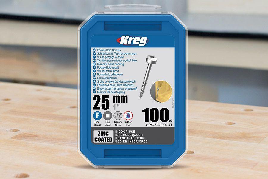 "Parafuso Kreg Jig Rosca Fina 1""-25mm - Cabeça Panela [SPS-F1-100]"