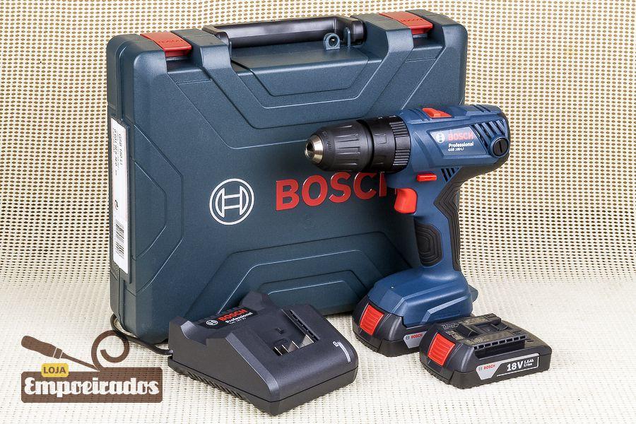 Parafusadeira/Furadeira com 2 baterias de Lítio 18V GSB180 LI - Bosch