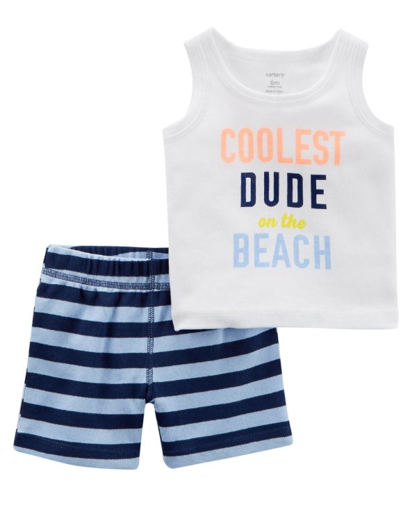D9- Conjunto 2 peças - regata e shorts-Carter's