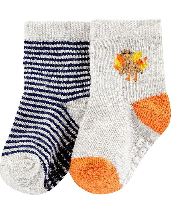 I1- kit 2 pares de meias-Carter's