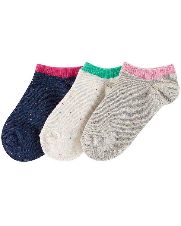 I1- kit 3 pares de meias-Carter's