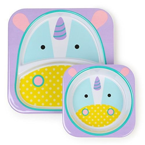 Prato principal e sobremesa skip hop plate bowl set unicornio